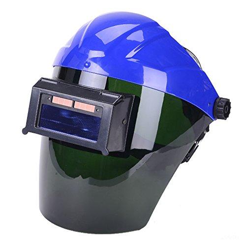 Holulo Solar Power Auto Darkening Welding Helmet With Lens ANSI Z87.1 / EN379 CE/CSA Z94.3 Standard (Blue 9001)