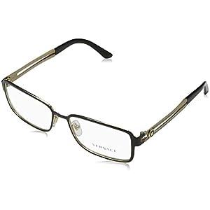 Versace VE1236 Eyeglass Frames 1371-55 - Black/pale Gold VE1236-1371-55
