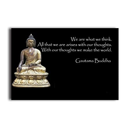 Meaning Of Life Quotes Buddha Poster 20 X 30 Inch Wall Sticker