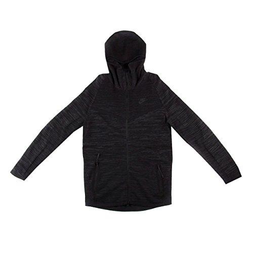 Nike New Club Jacket (Nike Mens Tech Knit Wind Runner Hoodie Black Size L)