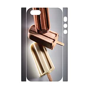 3D Ice Pops in Dark Chocolate IPhone 5,5S Case, Case Doah {White} BY BYC DESIGNS