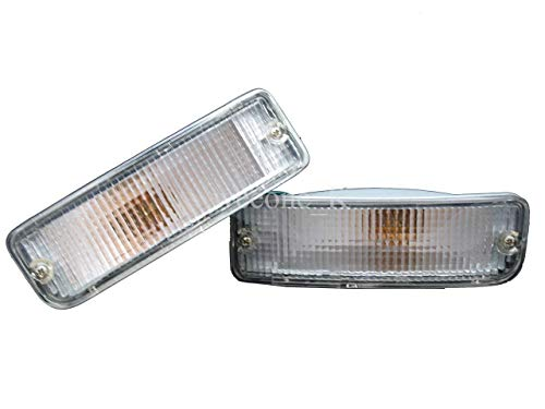 K1AutoParts 1 Pair Front Bumper Light Lamp Clear Lens For Toyota Hilux Pickup MK3 LN85 LN89 1990-1995