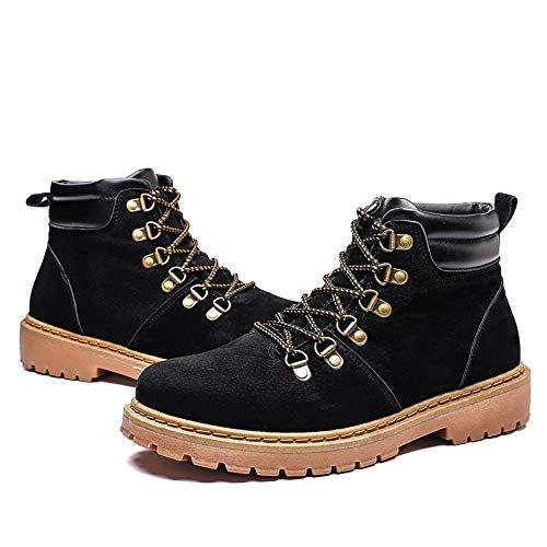 Noir Classique Chenjuan Casual Bottes Chaussures Laçage De Bout Rond Mode Bottines Jusqu'à Loisirs FXZXHxq7