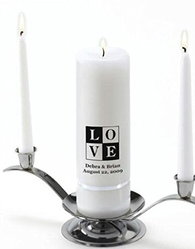 SKB family A1 Classic Unity Candle traditional design Personalization by SKB family