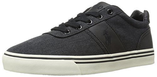 Polo Ralph Lauren Men's Hanford Fashion Sneaker, Black, 15 D US