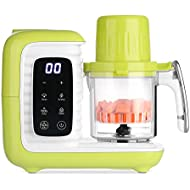 zanmini 6 in 1 Baby Food Maker, Organic Food Processor Machine for Infants and Toddlers, with Double Steamer/Blender/Chopper/Warmer/Defroster/Disinfector/Auto Cleaning - BPA Free