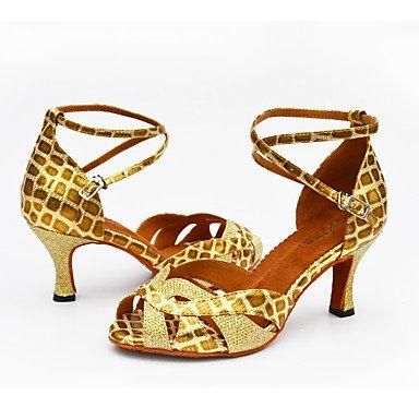 Personalizado Personalizables Negro baile Silver de Oro Zapatos Plata Blanco Latino Tacón xaR660