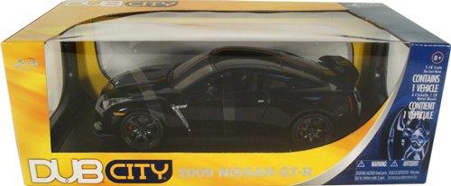 2009 Nissan GT-R R35 Black Jada DUB City Limited Edition 1:64 Scale Collectible Die Cast Car