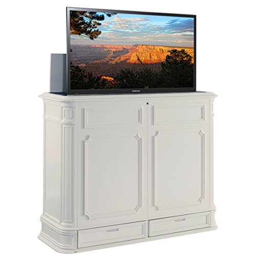 TVLiftCabinet Crystal Pointe TV Cabinet, White