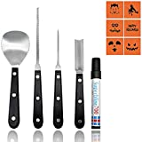 Pumpkin Carving Kit, JLPOW 5 Pcs Professional Heavy Duty Stainless Steel Pumpkin Carving Tools Jack-O-Lantern Sculpting Set for Halloween Party Supplies 2018 Outdoor & Yard Decoration, Easy to Clean Review