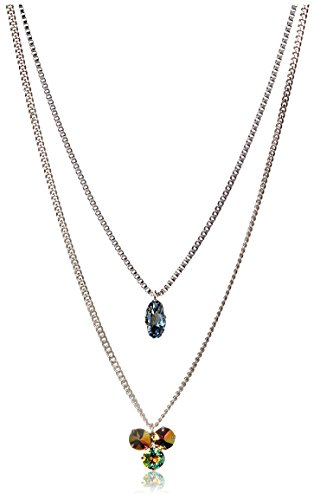 Tova Double Strand Chain Necklace with Crystal