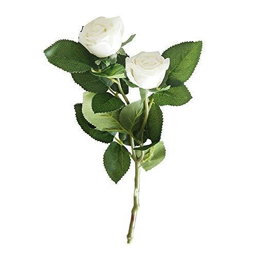 Sagton Artificial Fake Western Rose Flower Peony Bridal Bouquet Wedding Home Decor AMulticolor -