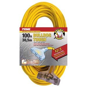 100Ft 12/3 3-Tap Contractor Extension Cord,