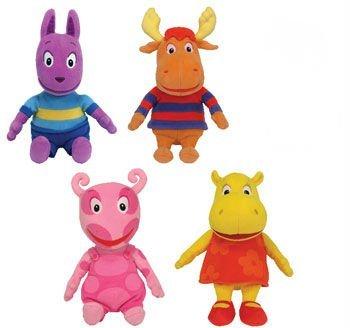 Ty Backyardigans Beanie Baby Set of 4 Beanie Babies: Tyrone, Uniqua, Austin & - Babies Backyardigans Beanie