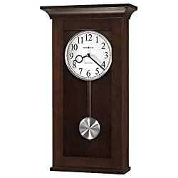 Howard Miller 625628 Braxton Wall Clock, Black Coffee