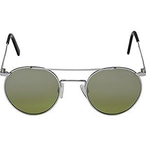 Randolph Unisex P-3 Shadow 49mm Bright Chrome/Jade Metallic Nylon Anti Reflective Lens Sunglasses