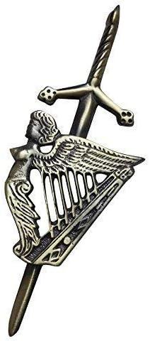 Highland Kilt Homme Broche /Écossaise Kilt Irlandais Harpe Finition Antique 4 Pins Celtique Harpes Highland