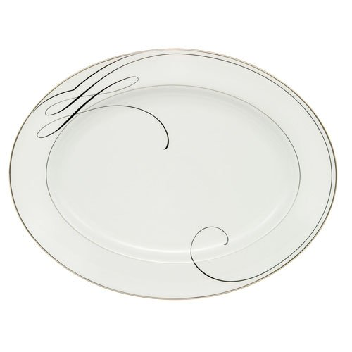 Waterford Ballet Ribbon China Oval Platter, 15.25'' by Waterford China