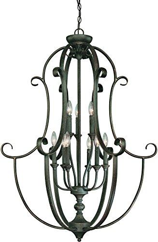 - Craftmade 24239-MB 9 Light Foyer Chandelier
