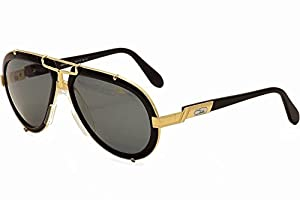 Cazal 642-3-001 Black and Gold Sunglasses