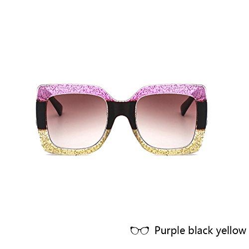 Big Gradient de Cadre Lunettes Vintage de carré Oculos Soleil Femmes D pour Mode Lunettes ZHANGYUSEN Femelle Objectif Femme X1OUUw