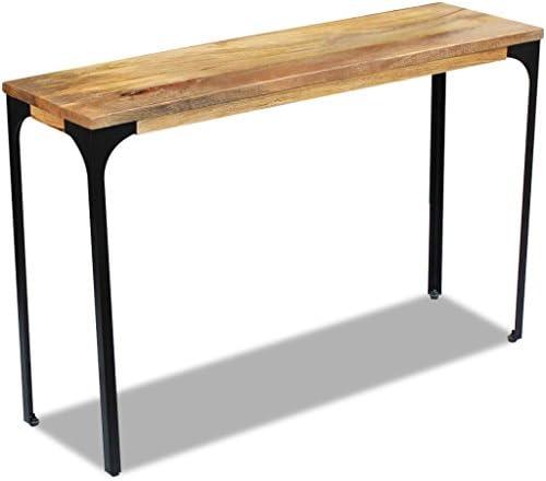 Beste Prijs Tidyard- consoletafel, houten dressoir, haltafel, mangohout, bijzettafel, stalen frame, woonkamertafel, salontafel  eYwYnhn