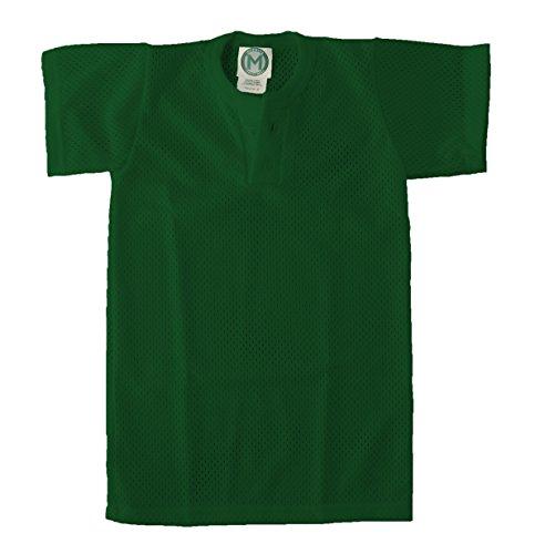 (EMC Sports Unisex Two Button Youth Mesh Jersey, Dark Green, Medium)