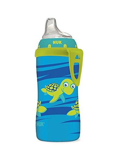 Copa Sippy activa NUK, tortuga azul, 10 oz 1pk