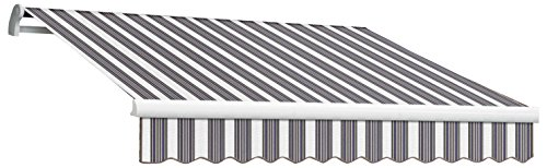 - Awntech 12-Feet Maui-LX Motor with Remote Retractable Awning, 120-Inch, Navy/White