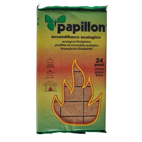 Accendifuoco per barbecue ecologico adatto per camini e stufe Conf. 6 Pz Papillon