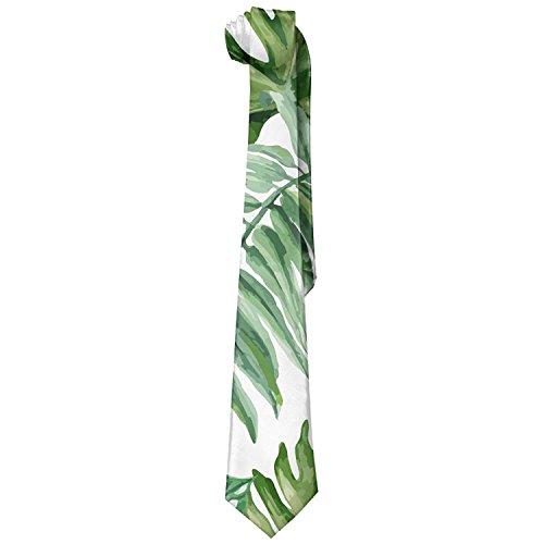 Neck Tie Necktie Novelty Leaf Tropical Palm Tie Men's qwYTPFY