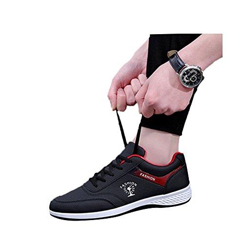 Wingfooted Printemps Nouveau Style Chaussures Entreprise De Chaussures Casual Léger Respirant L'air Baskets De Sport En Plein Air Classique Pour Les Hommes Noirs