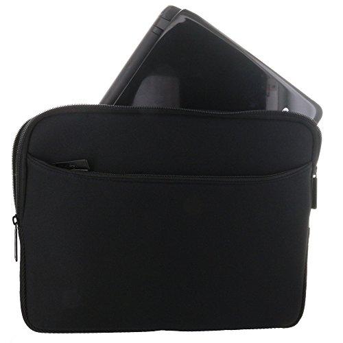XiRRiX Premium Notebooktasche Neopren Schutzhülle Universal mit Zubehör Fach - Grösse: bis 29,5 cm (11,6) für max. Abmessungen von 295 x 215 mm