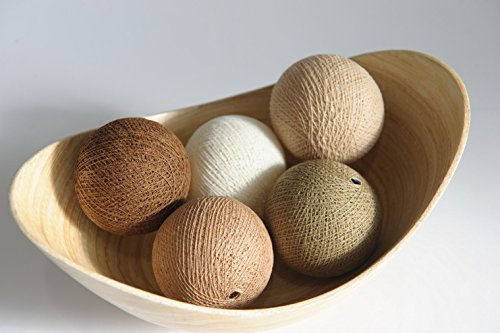 Shade 20 Chocolate - Plawanature Set of 20 Chocolate Brown Shade Cotton Ball Assortments Supply for Decorative String Light.
