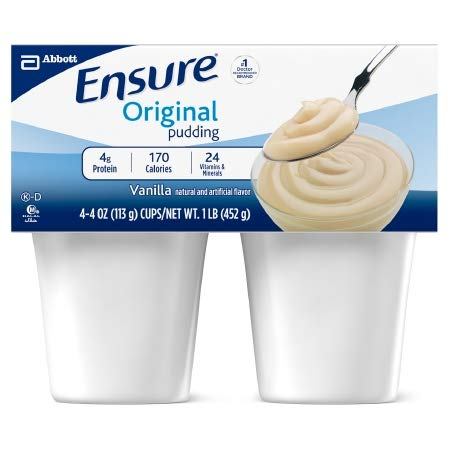 Ensure Nutritional Pudding Homemade Vanilla, 4 Ounce Cups - 1/Pack of 4