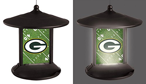 Feeder Green Roof (NFL Green Bay Packers 2SP3811BFSolar Power Light Up Birdfeeder, Green Bay Packers, Black)