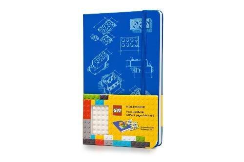 Moleskine LEGO Limited Edition Notebook II, Large, Plain, Blue, Hard Cover (5 x 8.25)
