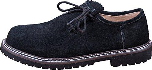 Almwerk Herren Trachtenschuh aus echtem Leder, Schuhgröße:EUR 47;Farbe:Schwarztöne