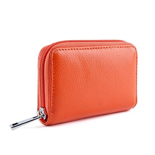 Porta Credito Donna Di Arancione Per arancione Pelle Uomo Carte wrPEFr