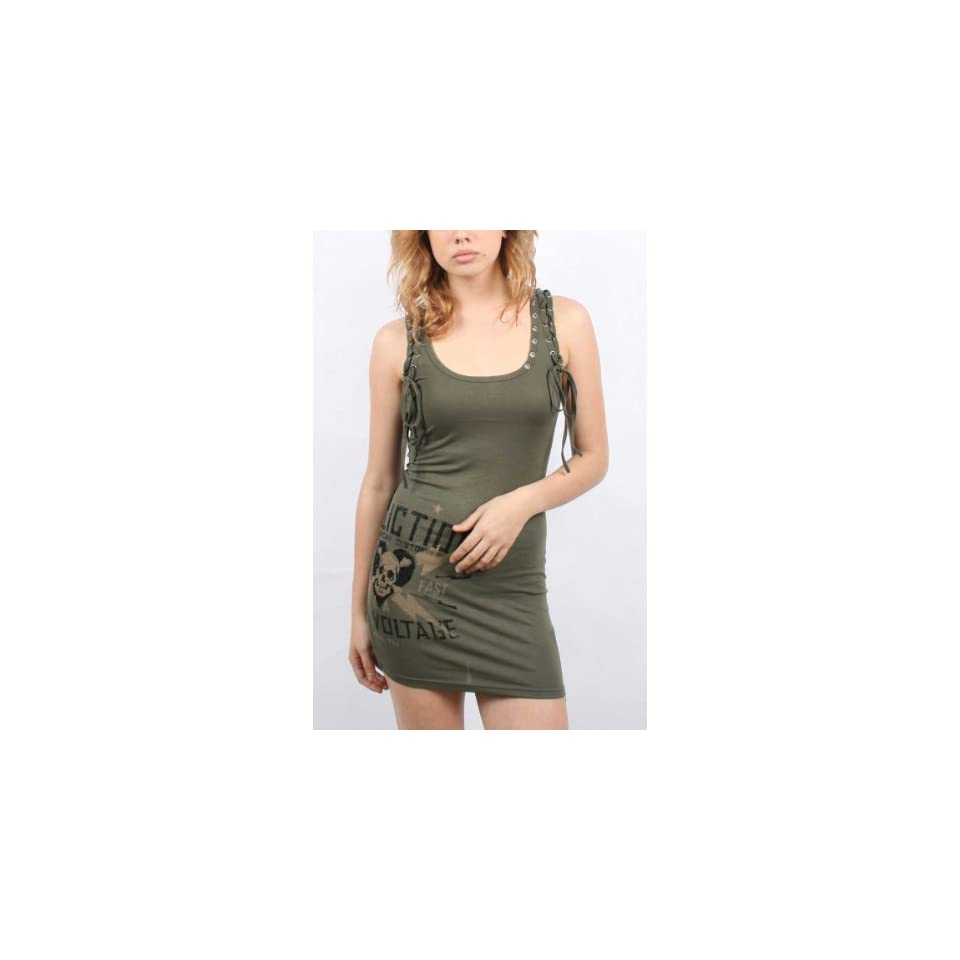 Affliction Black Premium   Womens Lyle Dress In Miltary Green, Size Small, Color Miltary Green
