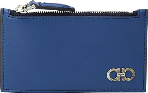 Salvatore Ferragamo  Men's Alain Credit Card Case - 66A165 Ocean/Blue Marine One Size