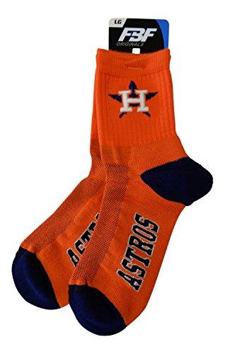 Houston Astros Socks - Houston Astros 573 Quarter Orange Men's Socks