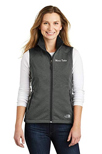 (The North Face® | Embroidered Soft Shell Vest for Women | Personalized with Name | Perfect for Doctor Resident Intern Midtown Corporate Tech Finance Hospital Clinic Office IT )