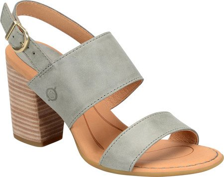 Slingbacks Born (Born Women's Holguin Grey Full Grain 9 M US)