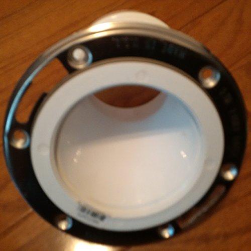 (SIOUX 889-POMPK PVC OFFSET CLOSET FLANGE 4'' x 3'' )