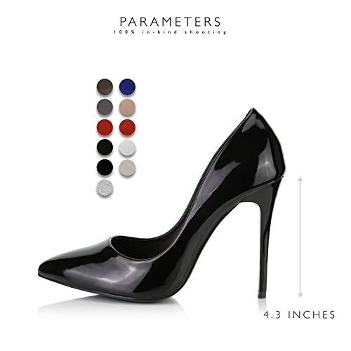 Nero Classico Pt Punta Dailyshoes Stiletto Sottolineato Femminile Vestito Moda Ha 01 Paris Pompa Tallone Dell'alto 1RRq4w
