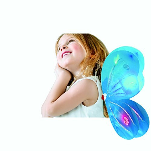 Dark Fairy Wings (Butterfly Wing / Fairy Wing Costume for Girls - Glow in the Dark - Turquoise)
