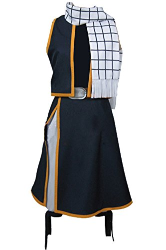 Cosplaysky Fairy Tail Natsu Costume Dragneel Cosplay Halloween Outfit X-Small