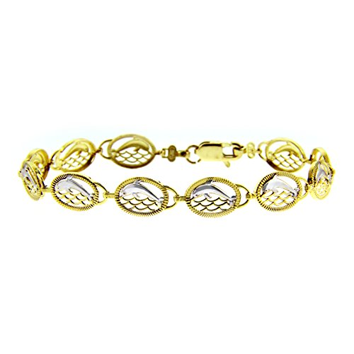 Petits Merveilles D'amour - 14 ct Or Blanc Bracelet - Coeur Bracelet