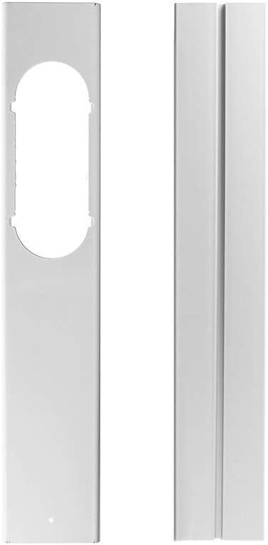 Stecto - 2 adaptadores de ventana corredera, universal, 110 cm, ajustable, placa de sellado de PVC, kit de sellado para aire acondicionado móvil: Amazon.es: Hogar